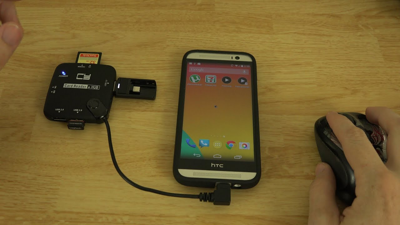 Micro Usb Otg 3 Port Hub With Card Reader Unboxing And Demonstration