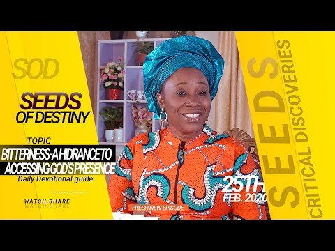 Dr Becky Paul-Enenche - SEEDS OF DESTINY - TUESDAY 25TH FEBRUARY, 2020