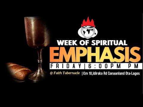 DOMI STREAM: WEEK OF SPIRITUAL EMPHASIS  DAY 3   9, JULY 2021  FAITH TABERNACLE