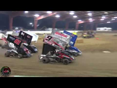 Sanders Motorsports Chowchilla Barn Burners 1-13-18 500 Main Highlights - dirt track racing video image