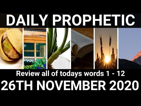 Daily Prophetic 26 November 2020 All Words