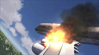 SAUDIA 747-400 Crash at Switzerland [Engine Explosion]
