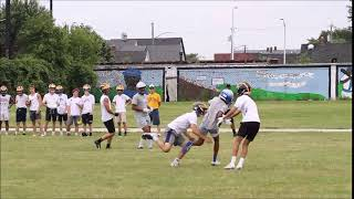 Flint Carman-Ainsworth 2022 WR/S Timothy Ormond II catch from Hamtramck 7on7 tournament