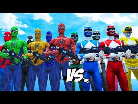 MIGHTY MORPHIN POWER RANGERS VS SPIDER-MAN, BLUE SPIDERMAN, GREEN SPIDERMAN, YELLOW SPIDERMAN - UCP-CAwOG0AiieZNFdONsN5Q