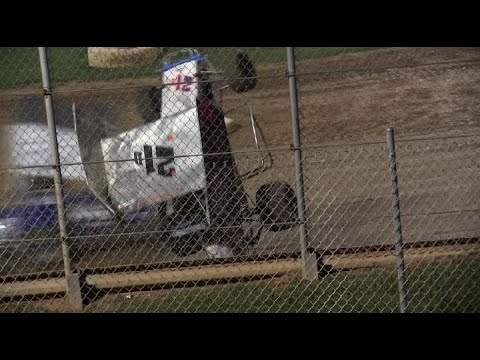 Clyde Martin Memorial Speedway 2021 Labor Day Shootout Crashes and Wingless 600 Sprints from 9-5-21 - dirt track racing video image