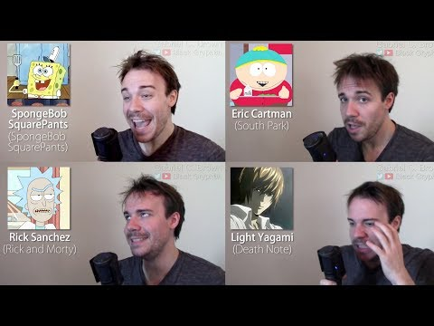 ONE GUY, 44 CHARACTERS (Death Note, Family Guy, Rick & Morty, Famous Character Impressions) - UCvzWGXYFDiiJ338KIJPhbhQ
