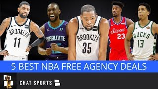 5 Best Signings In 2019 NBA Free Agency Feat. Kevin Durant, Kyrie Irving & Kemba Walker