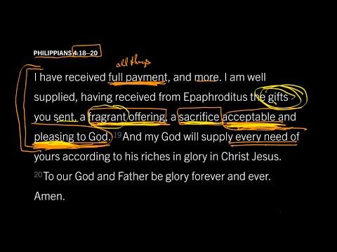 Philippians 4:1820 // Part 1 // Can Imperfect Christians Please a Perfect God?
