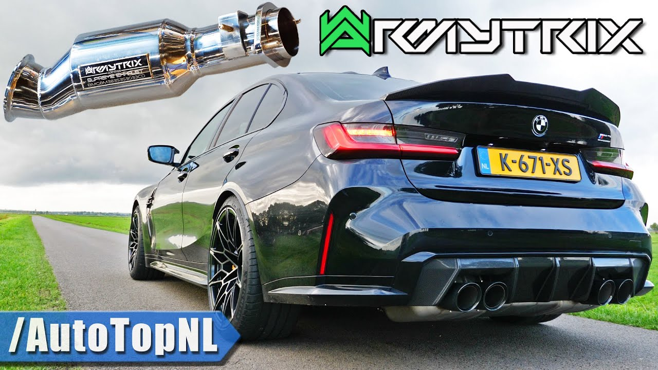 @ARMYTRIX 200 CELL DOWNPIPES for BMW M3 G80 Competition is a MUST HAVE! by AutoTopNL