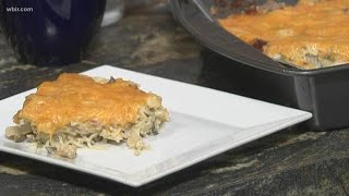 Chicken Tetrazzini is a great way to use leftovers to make a delicious dish
