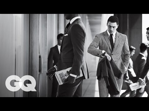 GQ Magazine 'Best Suits for Fall 2013' Photo Shoot (BTS)