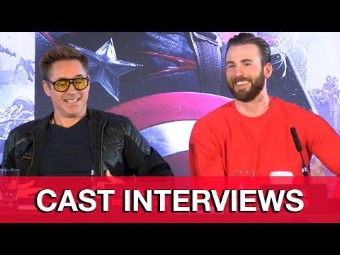 Avengers Age of Ultron Cast Interviews - Robert Downey Jr, Chris Evans, Scarlett Johansson - UCS5C4dC1Vc3EzgeDO-Wu3Mg