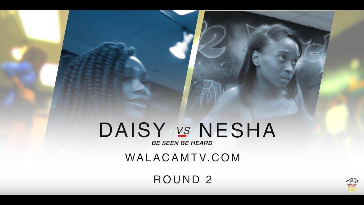 WALACAMTV ITS ON...Hip Roll BATTLE.. DAISY VS NESHA ROUND 2..WALACAMTV ITS ON!!!