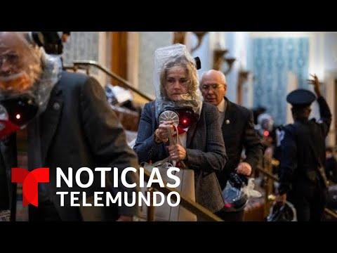 Caos y violencia en el Capitolio por la irrupción de los seguidores de Trump | Noticias Telemundo