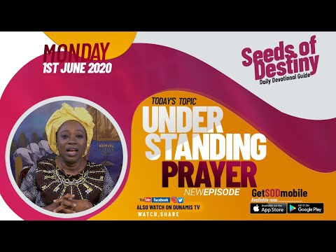Dr Becky Paul-Enenche - SEEDS OF DESTINY - MONDAY, 1 JUNE, 2020