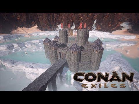 Conan Exiles - Dragon Bridge Castle (Speed Build) - default