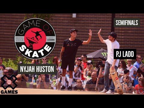 PJ Ladd vs. Nyjah Huston Game of Skate Semis - X Games - UCxFt75OIIvoN4AaL7lJxtTg