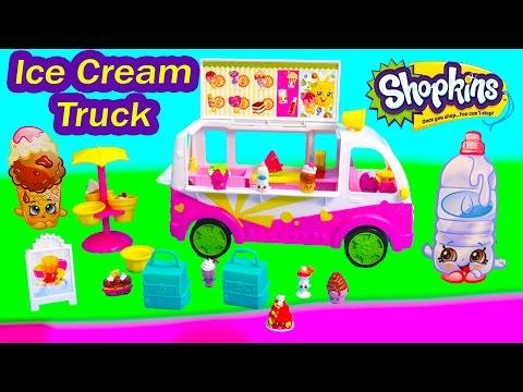 Shopkins Season 3 Scoops Ice Cream Truck Playset Food Fair Van Car Exclusive Fun Toy Video Unboxing - UCelMeixAOTs2OQAAi9wU8-g