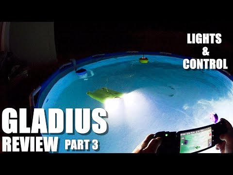GLADIUS Submersible ROV Drone Review - Part 3 - Lights & Controls in the Pool 💦 - UCVQWy-DTLpRqnuA17WZkjRQ