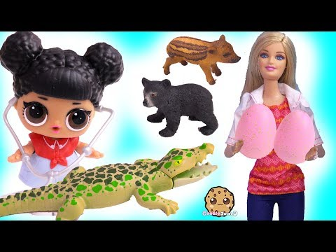 Barbie Doctor Helps Baby Animals with LOL Surprise ! Cookie Swirl C Video - UCelMeixAOTs2OQAAi9wU8-g