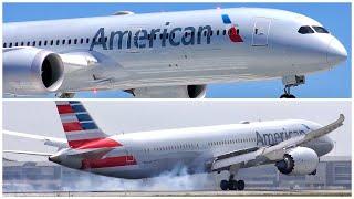 [4K] 4 AMERICAN AIRLINES BOEING 787-9 DREAMLINER ARRIVALS AT LAX - PLANE SPOTTING - JUNE/JULY 2019
