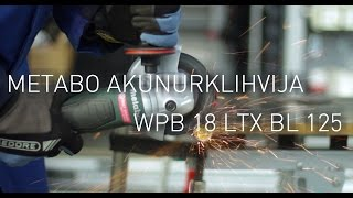 Metabo harjavaba akunurklihvija WPB 18 LTX BL 125