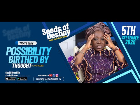 Dr Becky Paul-Enenche - SEEDS OF DESTINY - SATURDAY SEPTEMBER 5, 2020