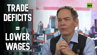 Keiser Report: Trade deficits = lower wages (E1500)