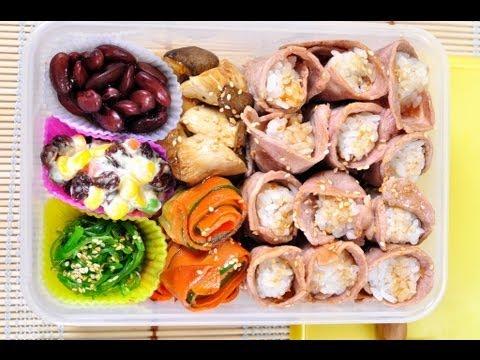 ข้าวกล่องข้าวห่อหมูย่าง (เบนโตะ) - foodtraveltvchannel