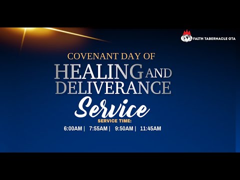 DOMI STREAM: COVENANT DAY OF HEALING AND DELIVERANCE  6, JUNE 2021 FAITH TABERNACLE OTA