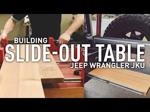 DIY Building slide out table for Jeep Wrangler Drawer System - UCE2GPCxTBvQ5RLY_Ym2LRCw