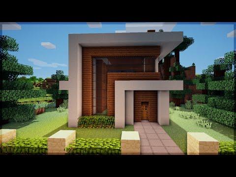 Youtube minecraft construindo uma pequena casa moderna for Casa moderna 8