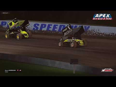 Apex Auto Glass & Tinting Sprintcars at Weedsport Round 7 - dirt track racing video image