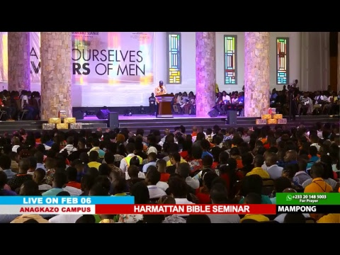 WATCH THE HARMATTAN BIBLE SEMINAR, LIVE FROM THE ANAGKAZO CAMPUS, MAMPONG- GHANA. DAY 2 SESSION 2.