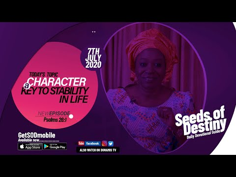 Dr Becky Paul-Enenche - SEEDS OF DESTINY - TUESDAY JULY 7, 2020