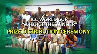 Bharathi Cements and Hybiz TV distributed prizes for ICC World Cup 2019 predictions Winners