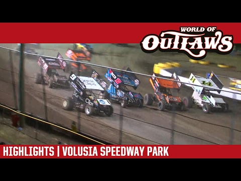 World of Outlaws Craftsman Sprint Car Series Feature Event Highlights from the Volusia Speedway Park in Barberville, Florida on February 17, 2017 as part of the DIRTcar Nationals!  For more information and full results: www.woosprint.com For extended race highlights: www.DIRTVision.com - dirt track racing video image