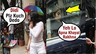 Jhanvi Kapoor SWEET Gesture Towards Hungry Beggar