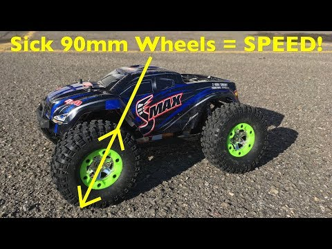 Sick 90mm Wheels On A 3S Brushless Remo Hobby SMAX - Even Faster! - UCqWO3PNCSjHmYiACDMLr23w