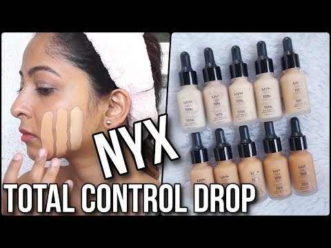 NYX TOTAL CONTROL DROP FOUNDATION | REVIEW & SWATCHES of 10 Shades | Stacey Castanha - UCXc9vucGRhqikPjZMfpgQYw
