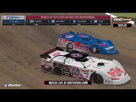 DIRTVision Replays from Knoxville Raceway in Knoxville, Iowa on April 6th, 2020 - World of Outlaws Morton Buildings Late Models iRacing Invitational - dirt track racing video image