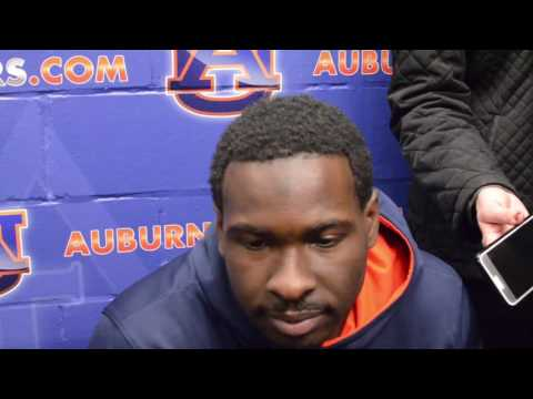 Auburn Quarterback Jeremy Johnson gives a postgame interview following Auburn's 55-0 victory over Alabama A&M on Senior Night, 2016.