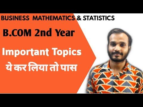 DU-SOL BUSINEDS MATHEMATICS & STATISTICS    B.COM 2nd Year    IMPORTANT Topics   Jasmeet Classes