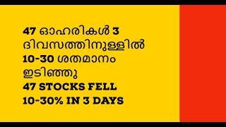 47 stocks fell 10-30% in 3 days/Small Cap/Mid Cap/Malayalam/NSE/BSE/MS