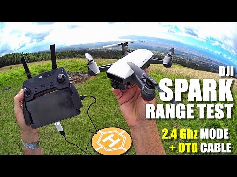 DJI SPARK Review - Part 5 - [In-Depth Range Test in 2.4Ghz Mode with RC Controller & OTG Cable] - UCVQWy-DTLpRqnuA17WZkjRQ