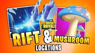 Rift Locations & Mushroom Locations SEASON X - Fortnite Week 3