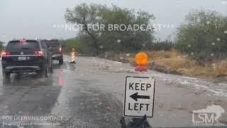 08-10-2019 Tucson, AZ–Rising Flood Waters Strand Motorists, Semi Blocking, Severe, Flash Floods