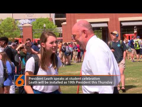 President Leath talks with Eagle Eye TV about his upcoming installation ceremony and the celebrations on the green space.