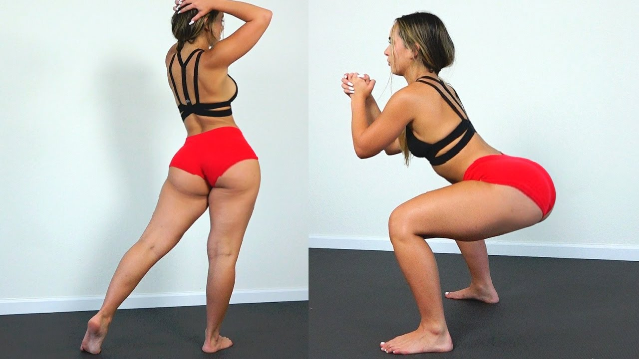 Big Butt, Thick Thighs, Fit Body Model Does Intense Home Workout! Part 2