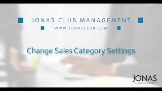 Point of Sale - Change Sales Category Settings